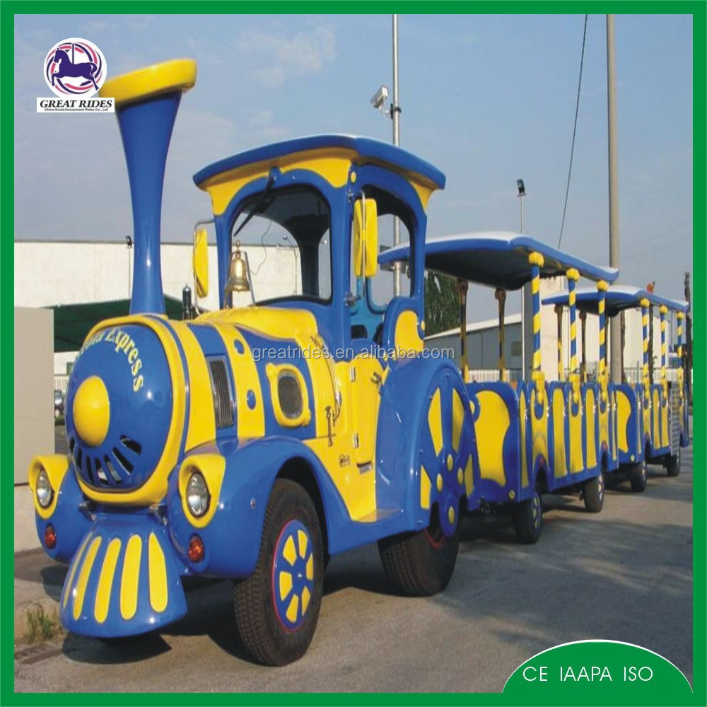 New type trackless diesel amusement park train