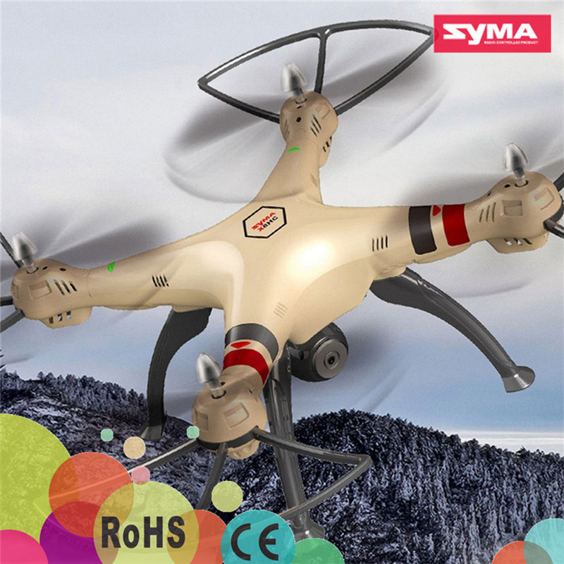 2016 New Coming Syma RC Drone 2.0MP HD Camera Barometer Set Height Headless Mode 3D Rollover Syma X8HC Quadcopter Toys Drone