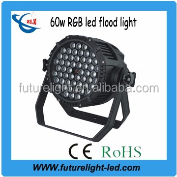 color changing outdoor dmx 60 watt led flood light