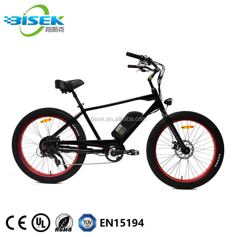 China Made Big Power Fat Tire Electric Bike/Snow Ebike/Electric Beach Cruiser Bicycle