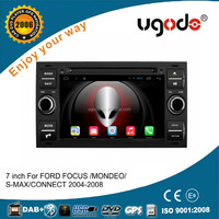 Factory price HD 7 inch double din android car dvd gps player for ford focus