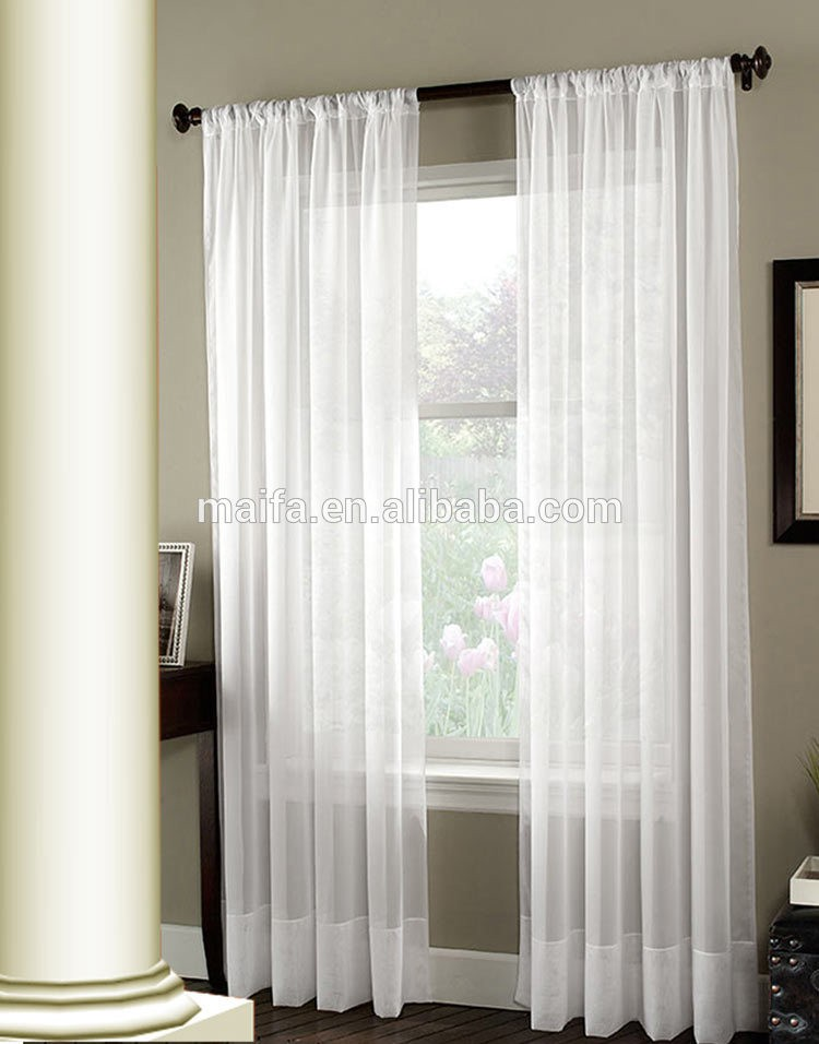 2016 new design curtains voile window whitecurtain sheer for Sheer panel curtain ideas
