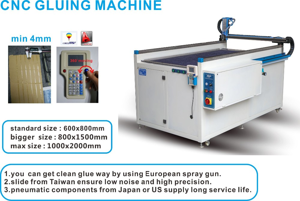 leather packing box gluing machine