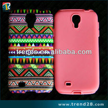 Hot selling 2 layer shockproof design hard pc and soft silicon case for samsung galaxy S4(i9500)