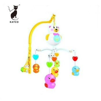 High Quality Electric Baby Music Mobile Crib Hanging Toy B/O Bed Bell With Music