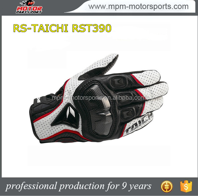 RS-TAICHI RST390 Black racing leather gloves for motorbike