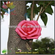 Plum colored Creped Paper Artificial Fake Flowers For Mum Gift