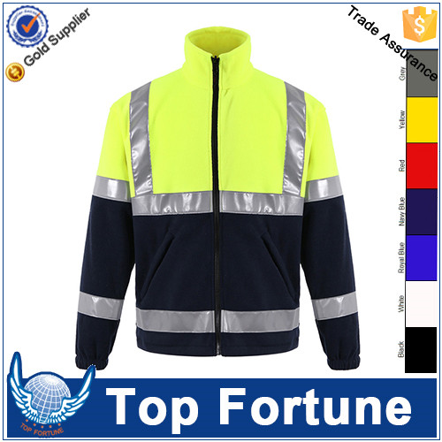 high visibility clothing,fleece high visibility jacket,hi vis workwear