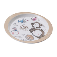 Hot selling food safety melamine kids plate for household
