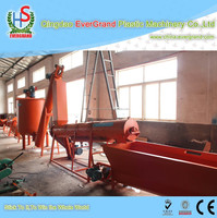 pet bottles recycling and crushing and washing machine