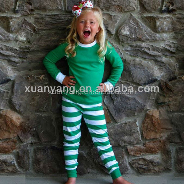 2017 kids cotton pajamas suits girls funny pajamas plus size clothing