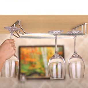 China Wholesale hanging metal wine glass rack holders