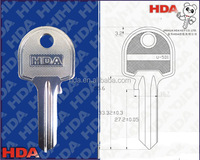 House key blank painted with various customization