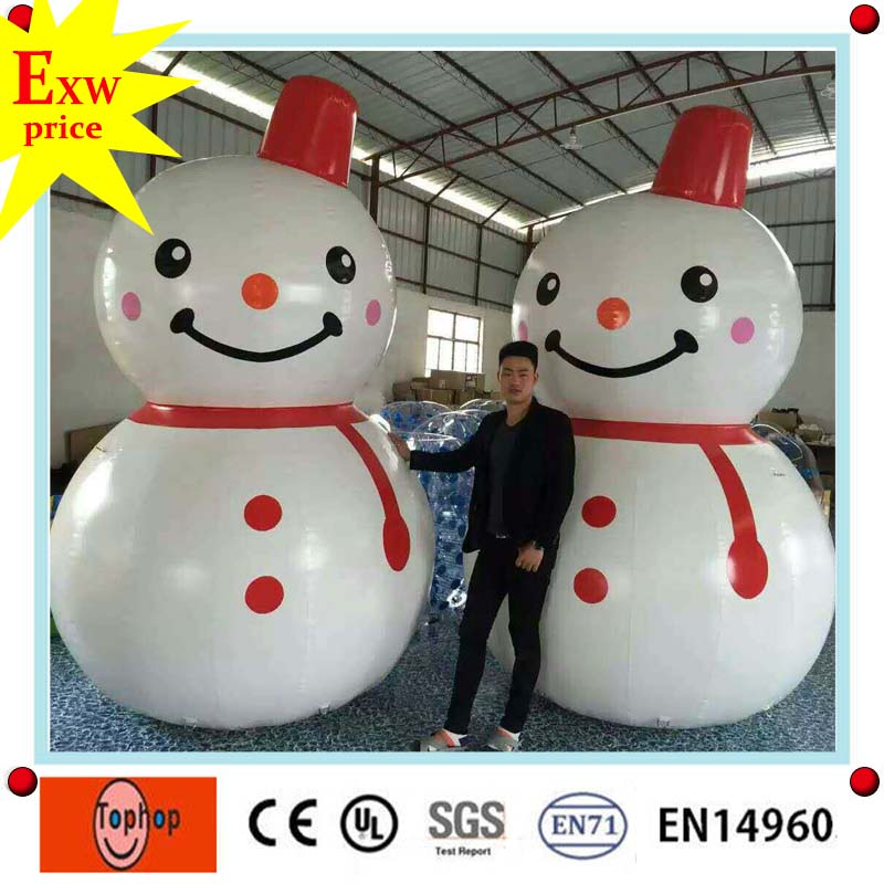 chinese supplier good quality pvc tarpaulin inflatable christmas snowman for sale