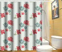 Exquisite printing polyester latest curtain designs