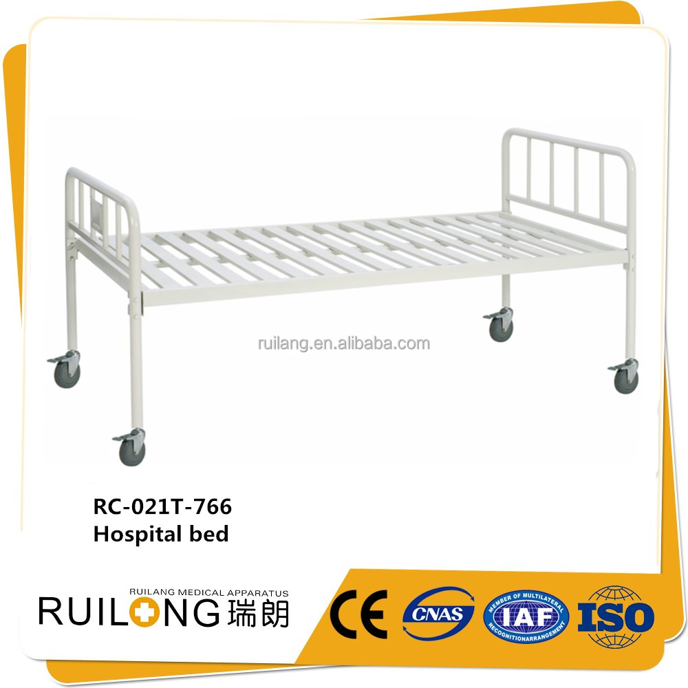 New hospital medical use white wrought iron furniture beds steel cots
