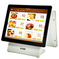 Touch dual screen pos terminal white color