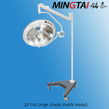 Mingtai-ZF720(high grade) movable battery halogen medical examination light with multiple mirror