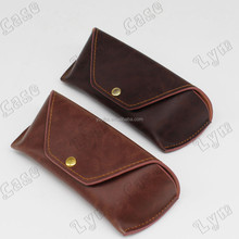 premium leather sunglasses pouch vintage eyeglasses soft case