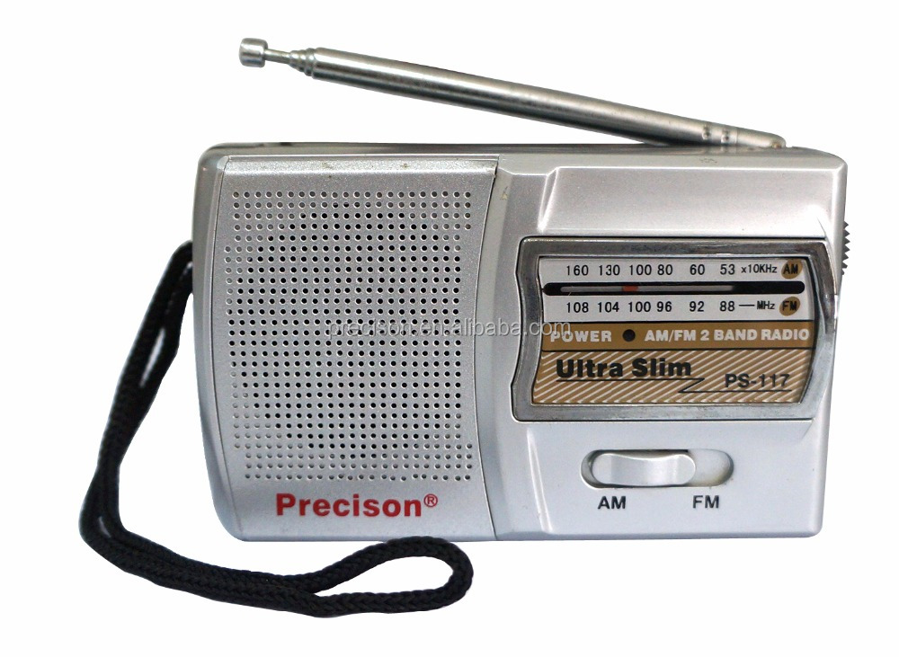 AM/FM 2 band portable radio with speaker & antenna