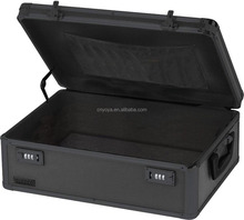 Locking Storage Chest, 19.5 x 7 x 13.5 Inches, Black on Black
