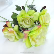 Artifical flower pvc and skil rose flower,decorate indoor/wedding