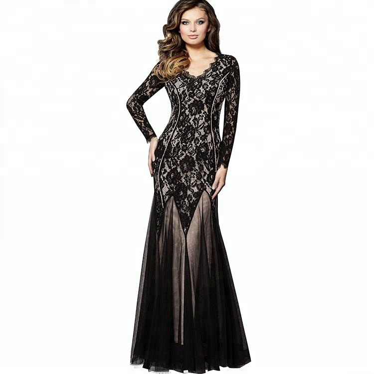 Vintage Lace Evening Gowns Formal Mother Of The Bride Dress For Lady
