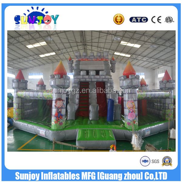 SUNJOY 2016 hot sale inflatable bouncy combo, inflatable combo slide, inflatable combo games for sale