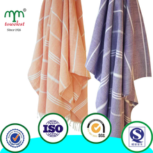 Hot sale! China supplier 39 by 71 inch 100% cotton turkish towel with tassel