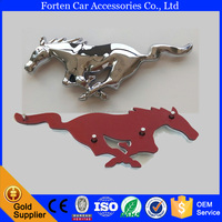 Chrome Plastic ABS Front Customized Mustang Horse Pin Logo Emblem Badge