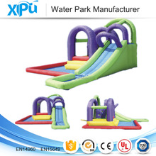 Plato material commercial grade inflatable water slides inflatable slide with pool