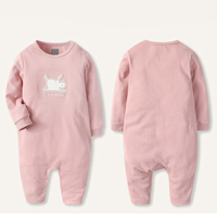 Exporting Us Baby Clothes Soft Cotton Infant Pink Romper Bodysuit Baby Onesie Wholesale