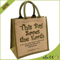 Wholesale custom promotional shopping jute bag manufacturers
