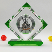 newest design k9 wedding favor crystal clock,desktop clock with cut sheet for souvenir gift