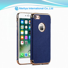 Mobile phone cover electroplating TPU leather case for iphone6 6s