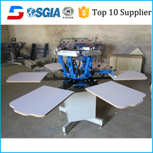 Carousel 8 Colors 8 Stations Used Automatic Screen Printing Machine Rotary T Shirts Screen Printing Machine For Sales