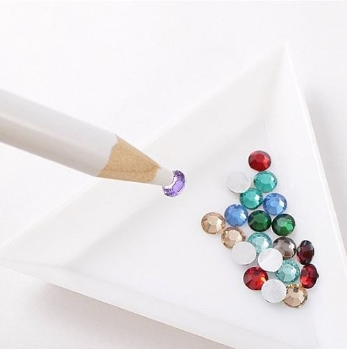 Rhinestones Picker Pencil Pick Up Tool Wax Crystal New nail rhinestone picker nail art rhinestone picker
