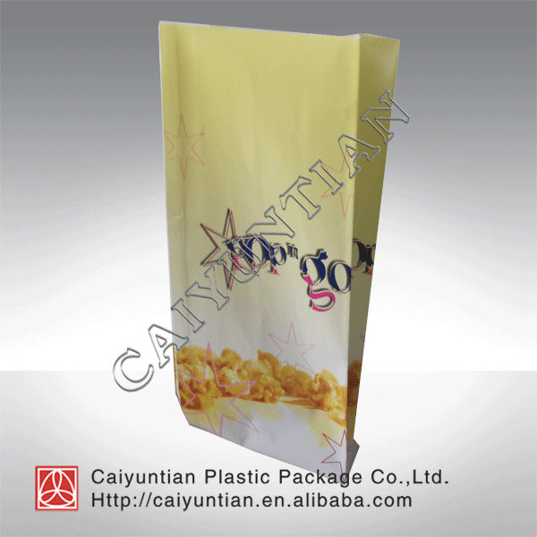 Hot roast chicken Plastic bags/paper popcorn packaging bag/stand up paper popcorn bags popcorn packaging bag