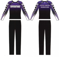 sublimation male cheer uniforms
