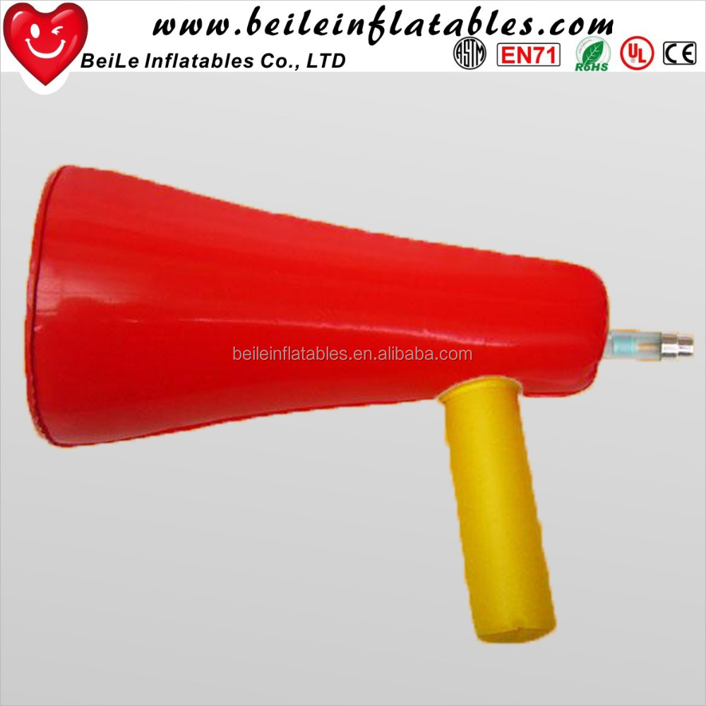 Eco-friendly large size world cup fans horn inflatable plastic toy trumpets for kids