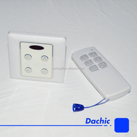 Square shape 4 channels infrared remote control light switch for showroom
