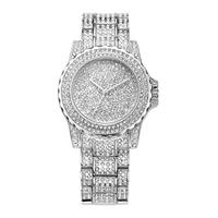 luxury full crystal diamond stone quartz watch women stainless steel fashion bracelet watch
