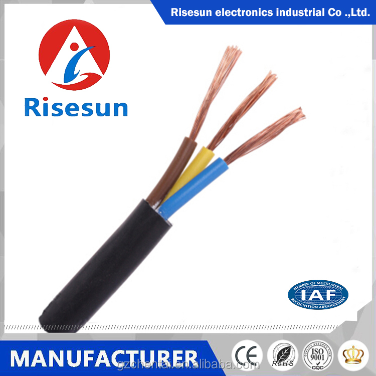 ISO9001 Approved red and black pvc insulated 3 core flexible electric cable