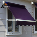 Professional waterproof manual retractable awning with hand override for sale