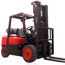 China New Container Mast Dual Fuel Forklift Truck with 3 Stage Mast, Side Shift, Solid Tires (option)