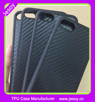JESOY Black Silicone Bumper For iPhone 5 5s SE 6 Carbon Fiber Case Cover