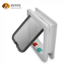 White or Brown Out Frame ABS Material Hard Smooth Pet Door Flap
