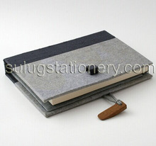 silk bound sized notebook with lock