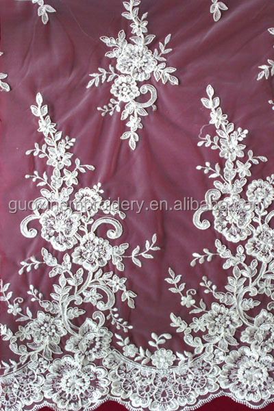 2014 hot selling water soluble lace with guipure