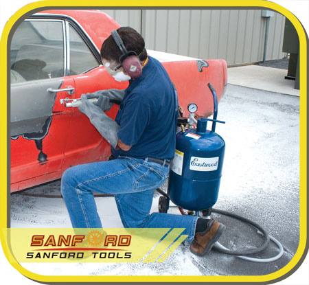 80lbs Dual Portable Sandblaster with CE